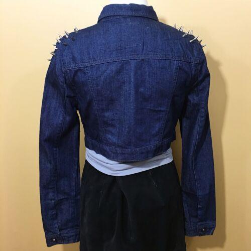 borchie da spalla Giacca jeans Denim e con Denim donna Denim a dXqt4pwt