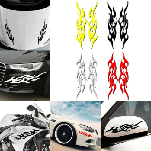 1 Pair Reflective Flame Fire Car Sticker Vehicle Decal
