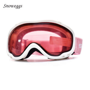c2cd78439fa7 Ski Snowboard Goggles Adult Womens UV400 Anti Fog Dual Lens Skiing ...