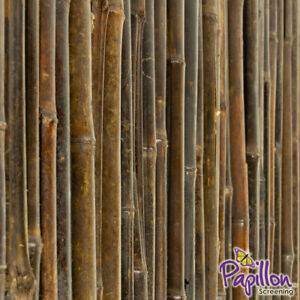 Details about Thick Black Bamboo Cane Garden Screening Roll High Fencing  Fence Screen 1 8m