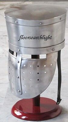 MEDIEVAL COLLECTIBLE KNIGHT CRUSADER ARMOUR HELMET REENACTMENT ROLE PALY COSTUME
