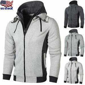 Men-039-s-Winter-Hoodie-Warm-Hooded-Sweatshirt-Coat-Jacket-Outwear-Sweater-Tops