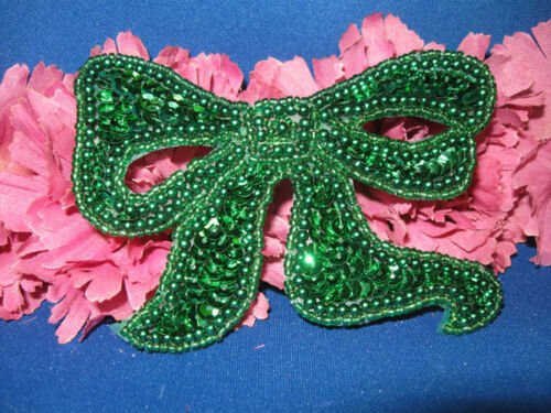 SEQUIN BEADED PEARLED BOW 0111-C