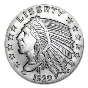 2 Troy Ounce 999 Silver 1929 Incuse