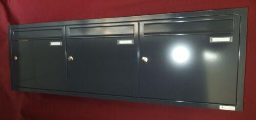 Unterputz Briefkasten anlage 3 teilig Knobloch Rahmen TE110 Farbauswahl UPH101