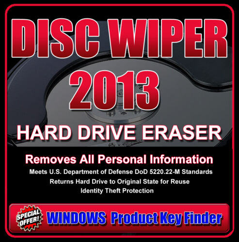 Government /& Military Compliant * DISC WIPER #Wipe Hard Drive Completely Clean