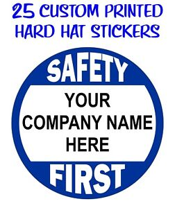 Custom Printed HARD HAT STICKERS Personalized Company Name - Custom printed vinyl decals