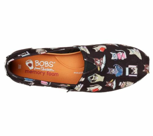 Pennino ~ For Taglie on Tutte Peluche Le Womens Skechers Cats Shoes Slip Bobs CAw7q7