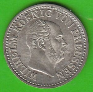 Prussia 1/2 Silver Pennies 1867 A Almost Bu Small Spots nswleipzig