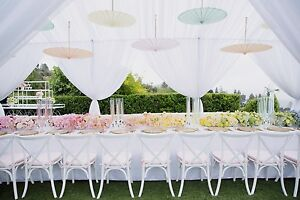 Wedding Ceiling Drapery, Wedding Backdrops, Ceiling Drapes, 10' x 30'