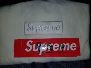 NEW-Supreme-Box-Logo-Crewneck-SIZE-LARGE-Sweatshirt-NEUTRAL-FW18-BoGo