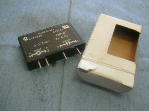 3A New Old Stock /< 120VAC Out Gordos: SM-0AC5 Relay Module 3.08-8 VDC In