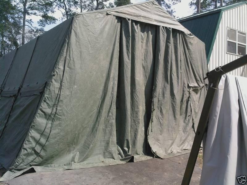 Lightweight Maintenence Tent End Section Green