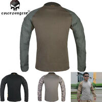 Emerson Combat Shirt Military Army Airsoft Tactical Long Sleeves Clothing Black