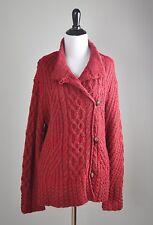 ICELANDIC DESIGN $178 Wool Alpaca Mohair Cable Knit Sweater Top Size Medium