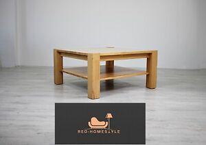 Details zu Designer Eiche Massiv Tisch Beistelltisch Wohnzimmer Holz Modern  Massivholz