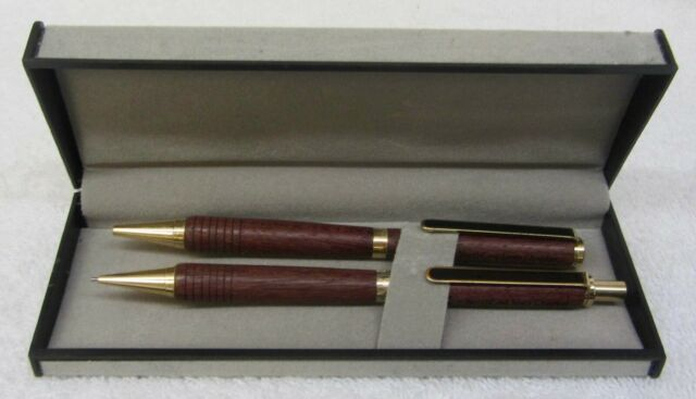Pack of 3 Pen Gift Set Maple Wood Pen Set Fountain Pen /& Ballpoint Pen /& Pencil Set with Gift Case
