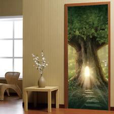 38.5cm*200cm*2pcs Bright Tree House Self-Adhesive PVC 3D Door Wall Sticker