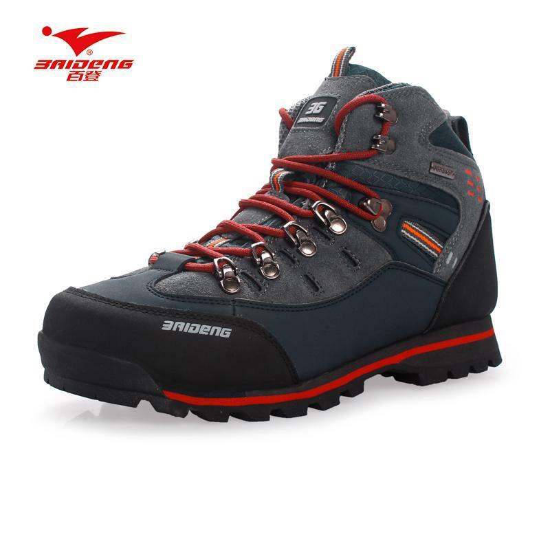 Men Hiking shoes Waterproof leather shoes Climbing & Fishing shoes Traveling