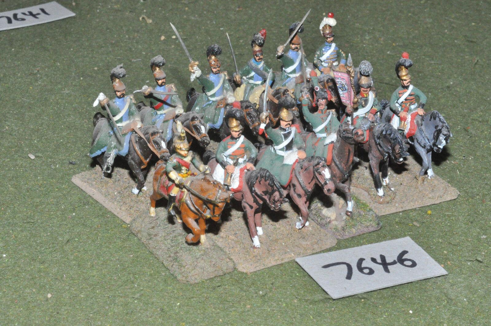 25mm napoleonischen   französisch - 12 leichte kavallerie metall gemalt - cav (7646)