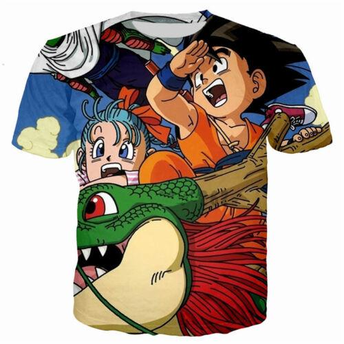 Women Men 3D T-Shirt Casual Anime Goku Kids Dragon Ball Print Short Sleeve Tee