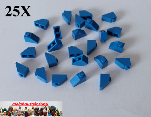 25X Lego® 3040 Dachsteine Roof Slope 1X2 45° Blau Blue NEU