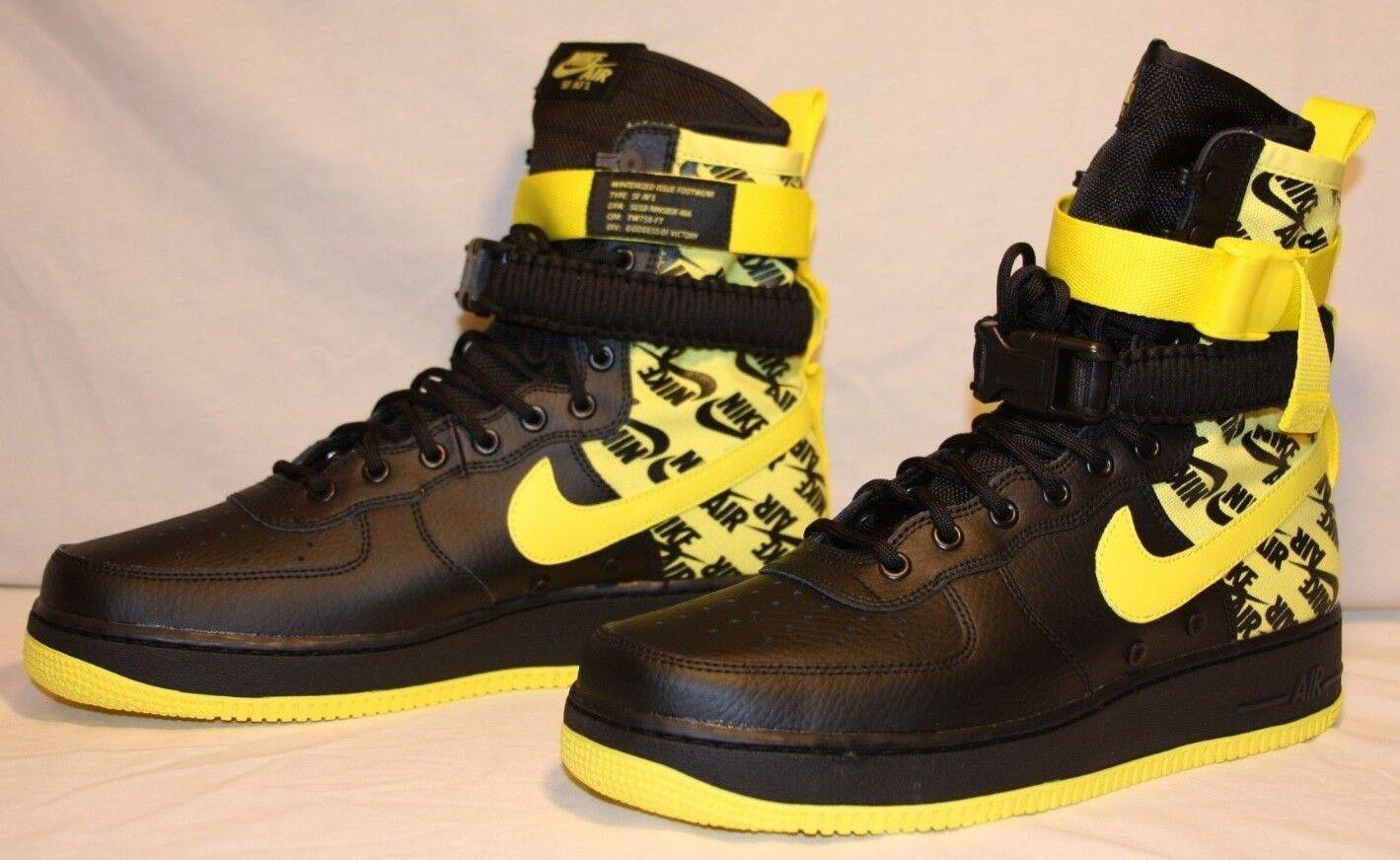 Nike SF AF1 Air Force One High Dynamic Yellow Black Size 11 AR1955-001