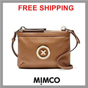 Mimco-Leather-MIM-Supernatural-Couch-Hip-Across-body-Hand-Bag-Brand-New-Honey-DF