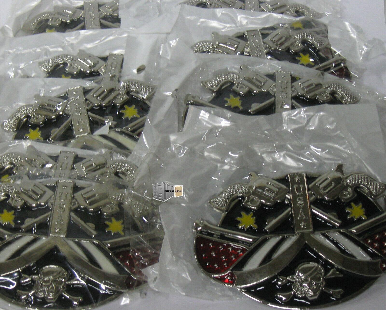 10 x Gürtelschnalle Buckle USA Totenkopf Metall NEU