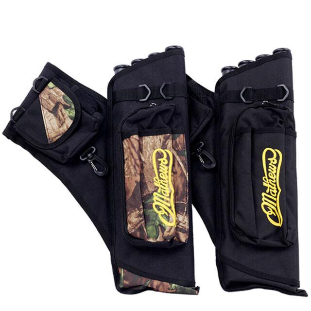 6Arrows Cow Leather Archery Arrow Quiver Pocket Holder Pouch Bag Hunt Belt Waist