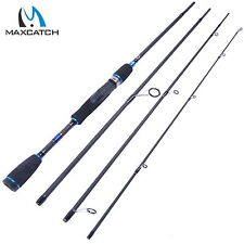 "6'9"" Fishing Spinning Rod 2.1M 4Pieces Travel Carbon Fiber Fishing Rod"