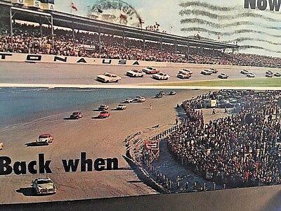 Postcard Daytona Race Track Now Back