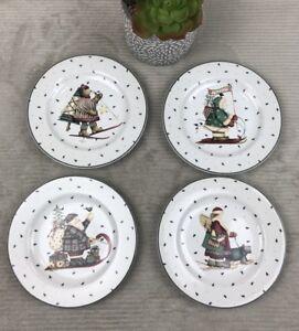 Debbie-Mumm-Sakura-Sledding-Characters-Salad-Plate-set-of-4