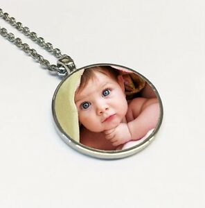 au silver necklace mynamenecklace personalised a pendants product disc personalized mothers plated pendant gold jumbo jewellery