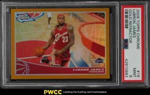 2009-Topps-Chrome-Gold-Refractor-LeBron-James-50-16-PSA-9-MINT