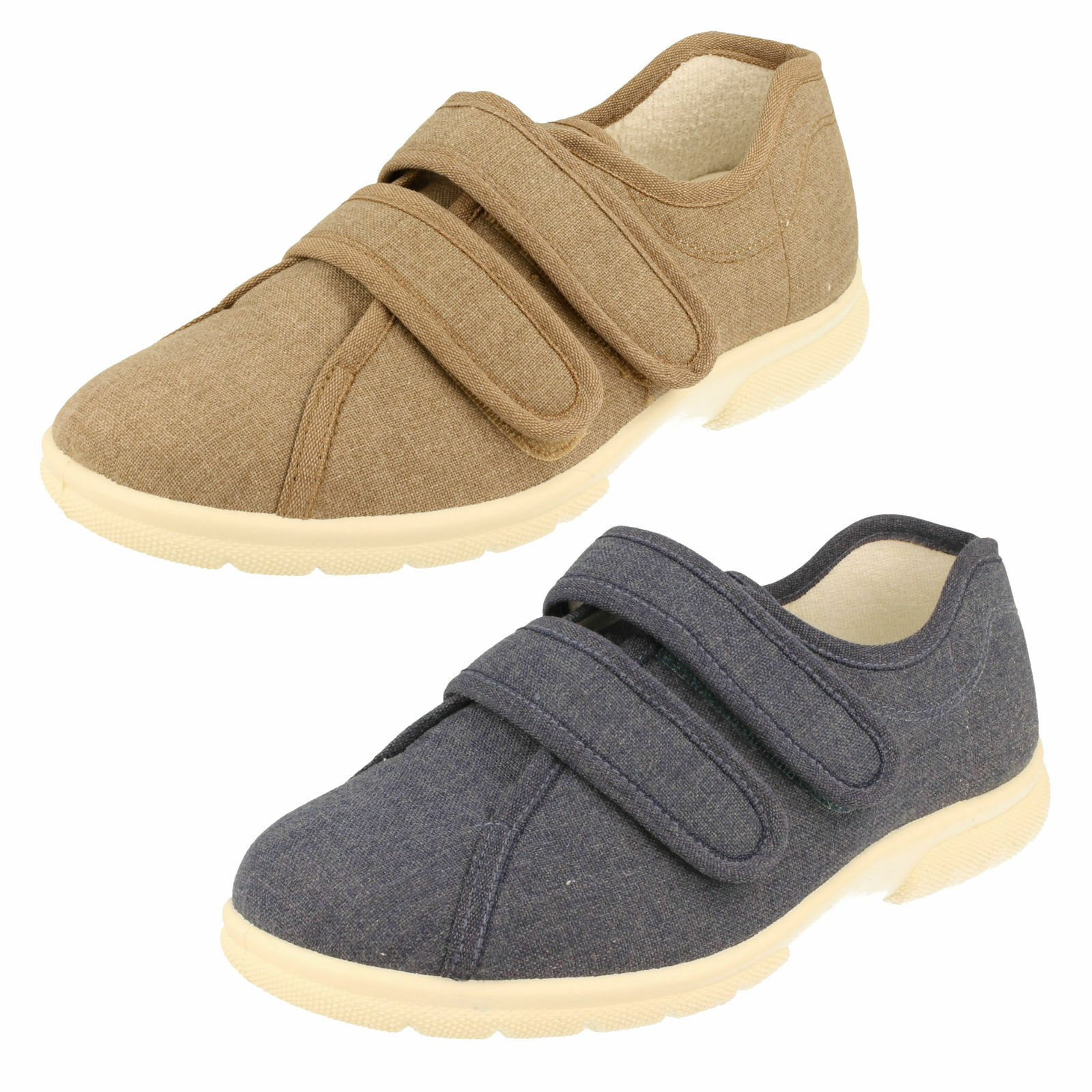 Men's DB Canvas Extra Wide Fitting Shoes - Harris