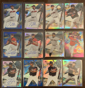 2020-Topps-Finest-Cleveland-Indians-Lot