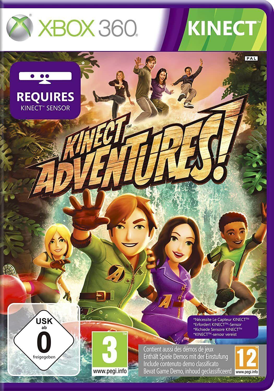 Xbox 360 Kinect Sensor + Kinect Adventures Game Black & White Choose Your Colour