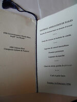 Football Association of Wales Official Dinner  Menu 1st February 1994