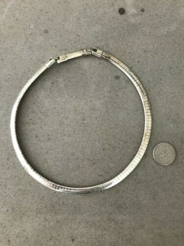 Heavy Vintage Link bracelet 7.5 inch by 12 inch no markings from 1935-55 estate non magnetic Spelter silver plated perhaps zinc alloy
