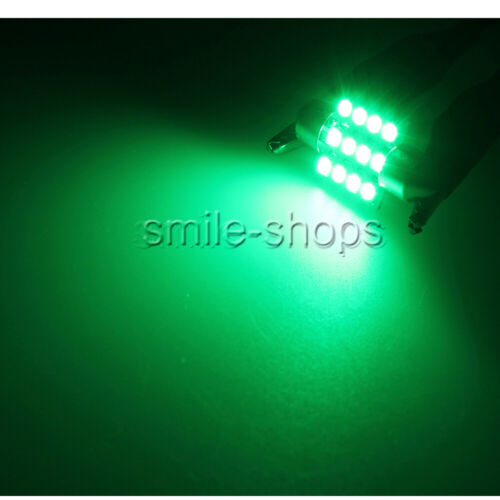 License Plate 14X Green LED Car Light Interior Package For T10 /& 31mm Map Dome