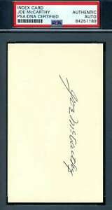 Joe-McCarthy-PSA-DNA-Coa-Autograph-Hand-Signed-3x5-Index-Card