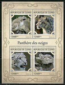 Guinee-2017-Snow-Leopard-FEUILLE-Comme-neuf-NH