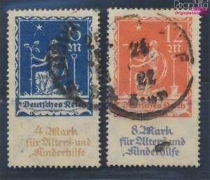 aleman-Imperio-233-234-examinado-usado-1922-Caridad-8104992