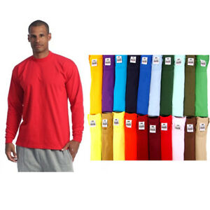 PROCLUB-MEN-HEAVYWEIGHT-SHIRT-LONG-SLEEVE-PRO-CLUB-TEE-ANY-COLOR-T-SHIRT-S-5XLT