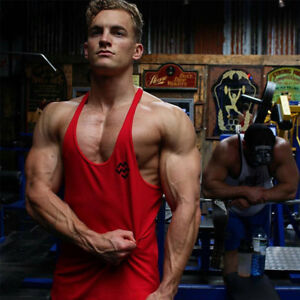 93d9e6991e33d Image is loading Men-Gym-Cotton-Bodybuilding-Muscle-Training-Workout- Stringer-