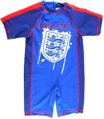Fútbol Inglés chicos Sol Safe Traje de Baño UPF 40 tres Leones Azul 2-3 años