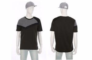 EDWIN-Henus-Mens-Asymmetry-Pattern-Detailed-Short-Sleeve-T-Shirt-Top-Size-M-NWT