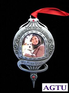 Christmas In Heaven Ornament.Details About Memorial Photo Ornament Christmas In Heaven Sympathy Keepsake Miss You Pet Agtu
