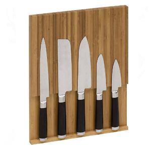 magnet messerhalter aus bambusholz messerblock. Black Bedroom Furniture Sets. Home Design Ideas